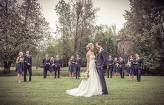 Wedding party in a field | Vintage Wedding Photography by www.newvintagemedia.ca