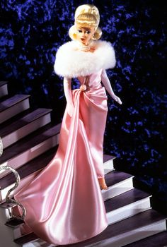 Enchanted Evening Barbie Doll (Blond) - 1996 Vintage Reproduction Collection - Barbie Collector