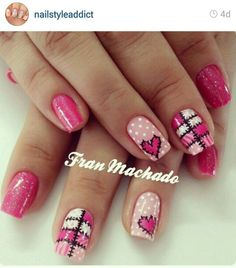 Learn how to create Valentines Day Nail Art Designs & Ideas for 2020 Love Nails, Pink Nails, Pretty Nails, Valentine Nail Art, Valentine Heart, Heart Nails, Holiday Nails, Nail Arts, Hair And Nails