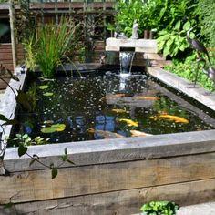 Exceptional Minimalist Fish Pond Design for Backyard Ideas Fish Pond Gardens, Koi Fish Pond, Fish Ponds, Koi Carp, Small Fish Pond, Modern Backyard, Ponds Backyard, Backyard Ideas, Garden Ponds