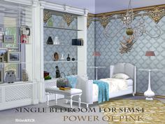 Power of Pink Single Bedroom by ShinoKCR at TSR via Sims 4 Updates #Sis4