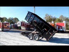 Dump Trailer 7' X 14' Hydraulic Trailer With 4ft Sides - http://sleequipment.com/news/dump-trailer-7-x-14-hydraulic-trailer-with-4ft-sides/