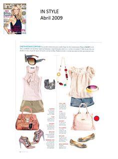 #Colaboración con la #Revista In Style. Abril 2009.