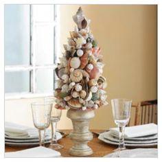 coastal decorating ideas | shell tree | Coastal Ideas and decor