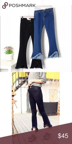FLASH⚡️Blogger fave! High waisted crop bell jeans Super cute and on trend. Very stretchy and comfortable. Washed black rinse. Chinese brand, not Nasty Gal - tagged for exposure! Nasty Gal Jeans Ankle & Cropped