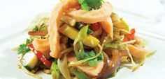 SALMA i wok - Stekt salma laks - Oppskrifter - SALMA Wok, Spaghetti, Ethnic Recipes