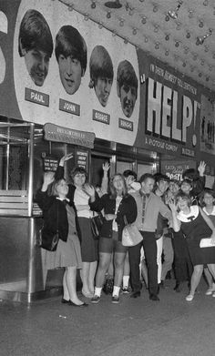 Fans lining up to see 'Help!', 1965.