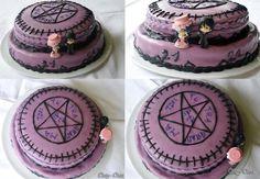 Kuroshitsuji Cake by clary-chan Black Butler Cake, Black Butler Anime, Just Cakes, Cakes And More, Cake Cookies, Cupcake Cakes, 14th Birthday Party Ideas, Birth Cakes, Anime Cake