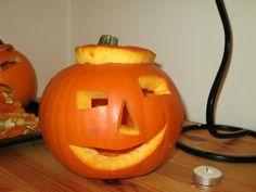 Pumpkin carving in London. My first Halloween pumpkin!