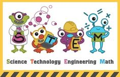 STEM (Science, technology, engineering, math) Monster Poster