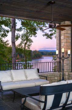 porch and view at the lake!