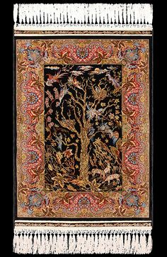 "Hereke Silk Carpet ""Tree of Life"" 38cm x 5cm by hesika. Would have to order this a lot larger~ Lots of money-lol!!!!"