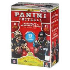 Collect your 2017 Panini Football Trading Card Full Box today! This full box consists of 11 packs with 8 cards in each box for a total of 88 cards. Look for 1 autograph or memorabilia card per box on average. Also watch for blaster exclusive Bravery parallels number to 399 or less!