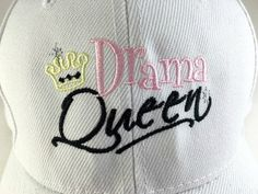 Ready to Ship BallCap for Women - DRAMA QUEEN CAP - Caps for Women, Ladies Caps, Cute Ladies Caps, Baseball Caps, Drama Queen #monogrammedcaps