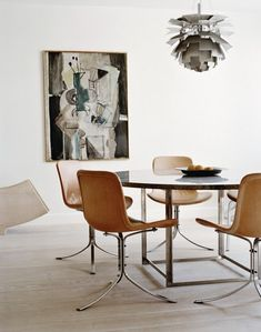 #dining #chairs #pendant #art  via The North Elevation