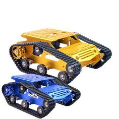 Xiao R DIY Self-assembled Aluminium Alloy RC Wifi Robot Car Chassis Kit Set Gold Blue For Kids Child Children Birthday Gift. Robot Kits, Diy Robot, Heng Long, Nerf Accessories, Get Schwifty, Diy Tank, Birthday Gifts For Kids, Shop Usa, Aluminium Alloy