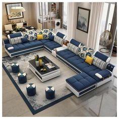 Corner Sofa Design, Sofa Bed Design, Living Room Sofa Design, Bedroom Bed Design, Home Room Design, Living Room Furniture, Furniture Design, Sofa For Living Room, Corner Table Living Room