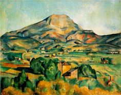 Mont Sainte-Victoire - Paul Cezanne >>> One of his many, many paintings of this iconic mountain in southern France. I love pretty much all of them, so this one will have to serve as representative. Nice work, Paul.