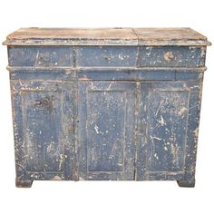Shop sideboards and other antique and modern storage pieces from the world's best furniture dealers. Metal Sink, Dry Sink, Paint Drying, Old Antiques, Painted Furniture, Primitive, Old Things, Cabinet, Sinks