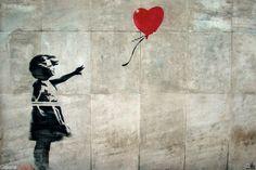 Banksy - Dziewczynka z Balonikiem - plakat