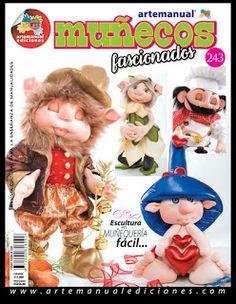 REVISTA ARTE MANUAL MUÑECOS FASCIONADOS Doll Patterns, Sewing Patterns, Sewing Dolls, Pretty Dolls, Soft Dolls, Soft Sculpture, Doll Face, Clay Crafts, Creations
