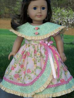 Any 5 PDF Sewing Patterns for American Girl Dolls by Farmcookies by VTQuilterKaren My American Girl Doll, American Doll Clothes, American Girl Crafts, Sewing Doll Clothes, Baby Doll Clothes, Doll Sewing Patterns, Doll Dress Patterns, Marie Osmond, Ashton Drake