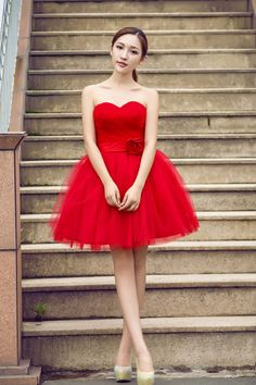 Prom Dress,Prom Dresses,Prom Gown,Tulle Short Red Homecoming Dress,Sexy
