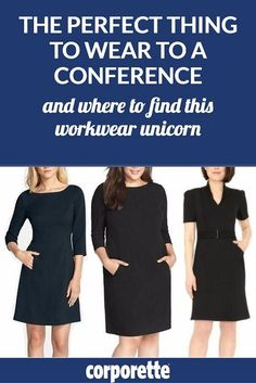 The perfect thing to wear to a conference: sleeved dresses with pockets. BUT: where can you find such a workwear unicorn? We rounded up a bunch of great options...
