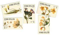 €5.10 Kevät kukkii - kuuden (6) postimerkin pienoisarkki