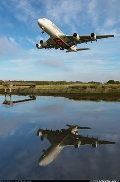 Emirates Airbus, Emirates Airline, Airbus A380, Aviation World, Civil Aviation, Gas Turbine, Reflection Photography, Overseas Travel, Boats