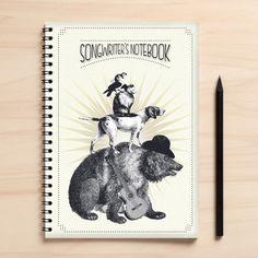 Cuaderno de notas con dibujo #DaWanda #hechoamano #diseño #handmade #DIY