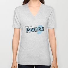 Parks and Recreation - Greetings from Pawnee V-neck T-shirt