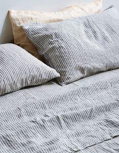 Linen Pillowslip Set - Stripe
