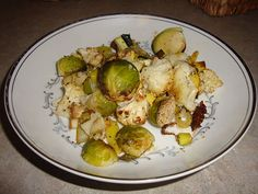 Ingredients 1 pound Brussel sprouts halved 2 Leeks sliced 1 Zucchini cut in cubes 1 Summer squash cut in cubes 3 cloves Garlic minced 2 tablespoon Olive oil Salt to taste Pepper to taste