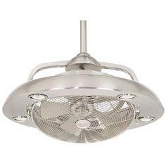 Possini Euro Segue Brushed Nickel 5-Light Ceiling Fan