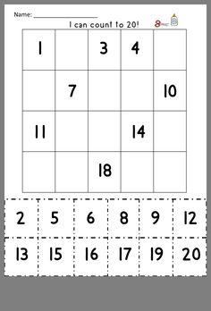 Les Suites Numériques, Homeschool Kindergarten, Preschool Math, Teaching Math, Maths, Homeschooling, Classroom Fun, Special Education Classroom, Math Numbers