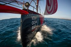 Leg Zero, St. Malo to Lisbon on board Dongfeng . Photo by Martin Keruzore/Volvo Ocean Race. 13 August, 2017