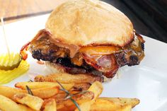 Peanut butter and Jelly Bacon Cheeseburger Recipe and who doesn't like peanut butter and bacon!!