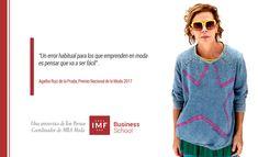Ton Pernas, Coordinador del MBA en Moda de IMF Business School entrevista a Agatha Ruiz de la Prada galardonada con el Premio Nacional de Moda.