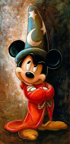 "Живи просто и ярко! — tinkeperi: Disney Fine Art: ""Sorcerer Mickey..."