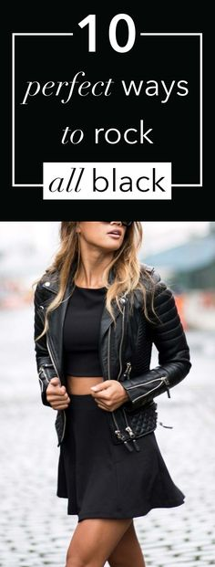 10 perfect ways to rock all black