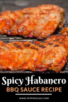 """This spicy habanero marinade recipe sits in the extreme barbecuing category. Habanero peppers are no joke hot, so get a list of brave souls who prefer """"heat from the sun"""" levels of spice before marinading your entire meat stock in this mix. #spicyhabaneromarinade #marinade #bbqsauce #hotbbqsauce #spicybbqsauce Habanero Bbq Sauce Recipe, Habanero Recipes, Chipotle Recipes, Hot Sauce Recipes, Barbecue Recipes, Meat Recipes, Pepper Recipes, Spicy Aioli, Spicy Meatballs"""
