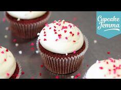 Red Velvet Cupcake Recipe | Cupcake Jemma - YouTube -> great CREAM CHEESE FROSTING !!!