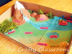 Many children are visual learners and the use of models is a great way to introduce important information. Use this fun model of the earths layers to learn all about the different components of our wonderful world! Materials: Empty Cardboard Box Green Construction Paper Play Dough,Sandpaper,Paint,Moss Labels w/Marker Suggest Resources for a Unit Study:  …