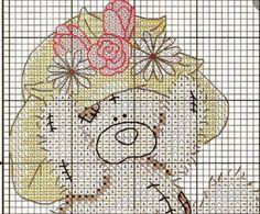Gráficos de ositos bordados en punto de cruz : cositasconmesh