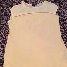 The Limited top Canary yellow, worn twice. Great condition! The Limited Tops Blouses
