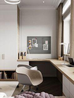 Modern Home Office Design Ideas For Inspiration - HomyBuzz Interior Design Atlanta, Office Interior Design, Office Interiors, Home Office Space, Home Office Decor, Home Decor, Office Ideas, Bedroom Office, Office Spaces