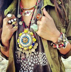 The Boho Garden. Beautiful necklaces.