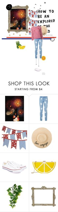 """Too Cool for British Rule"" by ndilettante ❤ liked on Polyvore featuring STELLA McCARTNEY, Crate and Barrel, Play Comme des Garçons, Converse, Jessica McClintock, Summer, stripes and redwhiteandblue"