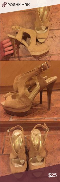 Jessica Simpson Nude Heels Worn only once. Perfect Condition. Size 8B/ 38 Jessica Simpson Shoes Heels